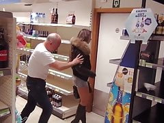 Julie fucked in the supermarket