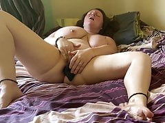 Very horny video of housemate home alone with new buttplug