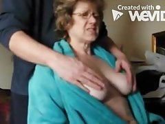 playing with mrs hg's breasts
